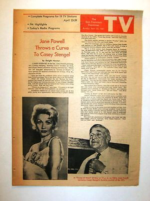 April 23, 1961 - JANE POWELL Throws a Curve To CASEY STENGEL - TV LOG