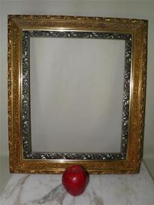 LARGE-ANTIQUE-ORNATE-GILDED-GESSO-WOOD-FRAME-FOR-MIRROR-OR-ART-21-5-X-18-5