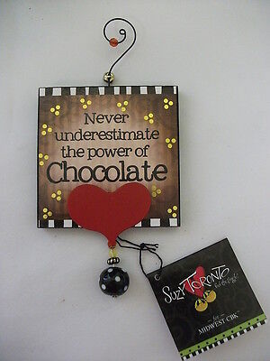 Suzy Toronto Power Of Chocolate Anytime Ornament 3 1/2 X 7