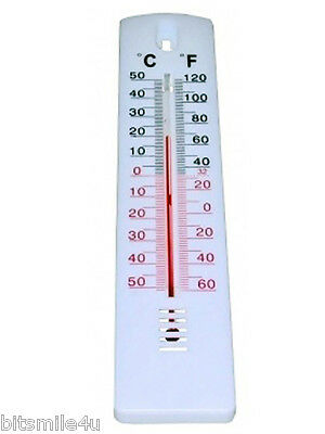 Mercury Free Indoor/Outdoor Home/Garden Wall Thermometer. -50/50C -60/120F Scale