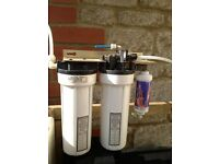 Water softening treatment system plus reverse osmosis drinking water system