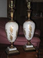 2 lampes année 50