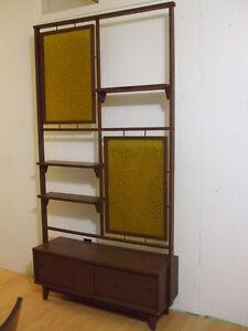 Vintage Mid Century Teak wood Room Divider shelf unit