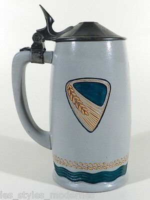 mettlach villeroy boch jugendstil steinzeug chromolith krug ober olm. Black Bedroom Furniture Sets. Home Design Ideas