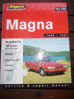 Magna 1985-feb 1987 tm series service and repair manual North Richmond Hawkesbury Area Preview