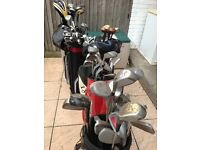 £150 ONO GOLF CLUBS OVER 25 DRIVERS AND 50 IRONS WOODS 5 CASES BAGS