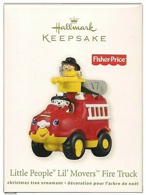 2011 Hallmark Fisher Price Little People Lil Movers Fire Truck Ornament
