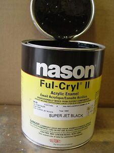 Dupont/Nason Ful-Cryl II super jet black acrylic enamel restoration shop paint