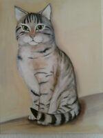 Ihre Luxus-Katze in Öl- od. Acryl gemalt nach Foto Hessen - Trebur Vorschau
