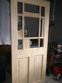 8 BRAND NEW INTERNAL WOODEN DOORS WITH PANELS ONLY £180 THE LOT