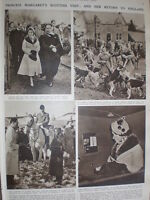 Photo Article Princess Margaret At Greenlaw And Hume With Buccleuch Hounds 1952 -  - ebay.co.uk