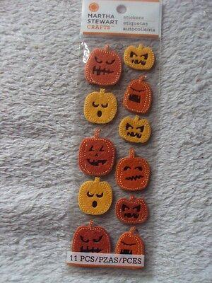 Martha Stewart Felt Pumpkin Dimensional Sticker Craft New