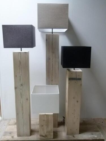 Favoriete ≥ vloerlampen- houten vloerlamp - staande lamp - steigerhout @GU62