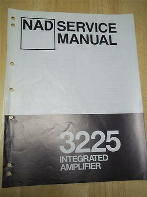 nad service manual~3225 amplifier/amp~original~repair