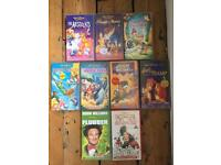9 Disney VHS Tapes
