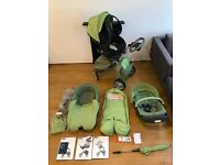Stokke Xplory Pram + Carrycot + Car Seat and other Acessories