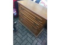 Antique wood chest of drawers