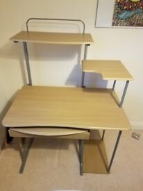 Wood and metal desk, great for computer set up