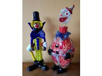 vintage murano glass clown decanter and his japanese clown decanter fr