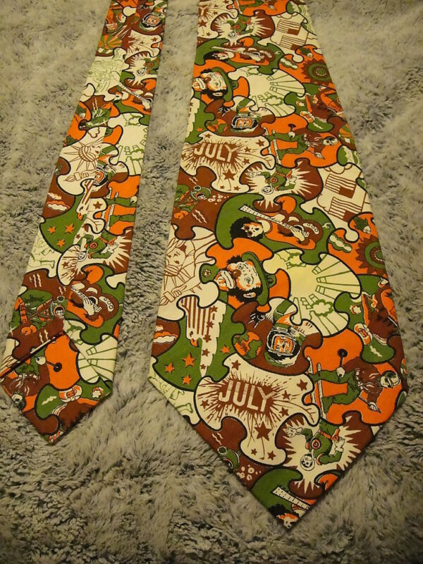 VINTAGE RARE GIANT CLOWN TIE HALLOWEEN COSTUME Accessory ~ Peter Max Era