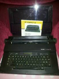Vintage Olivetti et compact 60 electric typewriter with ribbon in working order