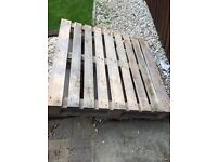 4 wooden pallets FOR FREE. 1m x 1m each. Will deliver within Renfrewshire or collection if outwith