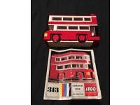 Lego Set No 313 London red bus ( 1966 )
