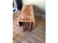 Pine dining table for upcycle project