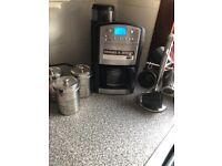 Coffee machine cups and coffee tea sugar pot