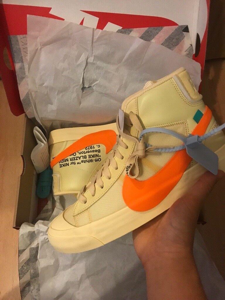 DSWT Off-White x Nike Blazer Al Hallow s Eve (Orange) UK 8. Hackney 5754eb966
