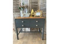 Beautiful Art Deco shabby chic oak dresser/sideboard - safe doorstep delivery for