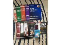 Gcse text books. Science Maths and English Revision Guides and Revision Cards
