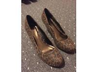 Dorothy Perkins leopard print heel shoes