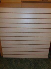 One Single Grey Slat Wall Panel 1.2m x 1.2m