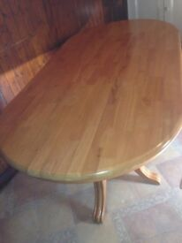 Oak pine dining table