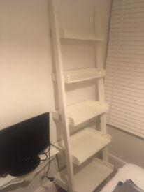 White M and S bookshelf