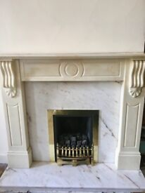 Marble effect Fireplace **Great Deal** with real gas fire