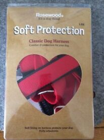 NEW Rosewood Soft protection dog harness. Red. Large.
