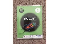 Biology first yr A level book and 2 yr revision guide (NEW SPEC)