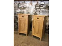 Pair of Antique Pine Bedside Cabinets