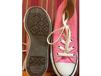 Pink Converse Shoes Size 3
