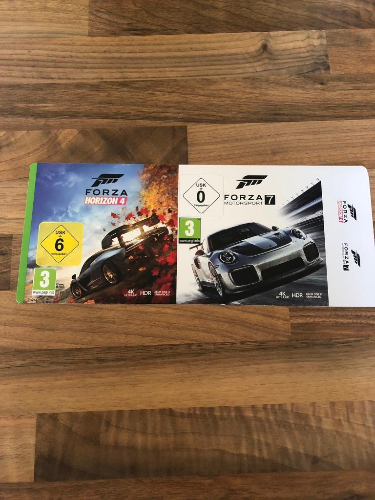 Forza Horizon 4 & Forza Motorsport 7 Xbox one Download codes | in  Whetstone, Leicestershire | Gumtree