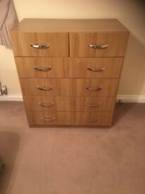6 Drawer Chest of Drawers in Oak Vaneer (Collection Only)
