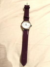 FCUK women's leather watch