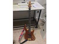 Vintage V9004b Bubinga Bass Guitar Active Pickups