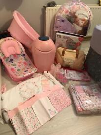 Various Pink Baby Girl Items/Accessories *Mostly Never Been Used*