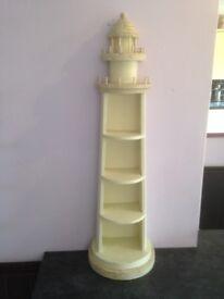 Novelty Standing Lighthouse Shelving Unit