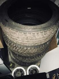 4 Winter tires R17 225/50. 5mm