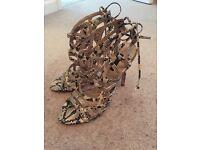 Topshop snake heels