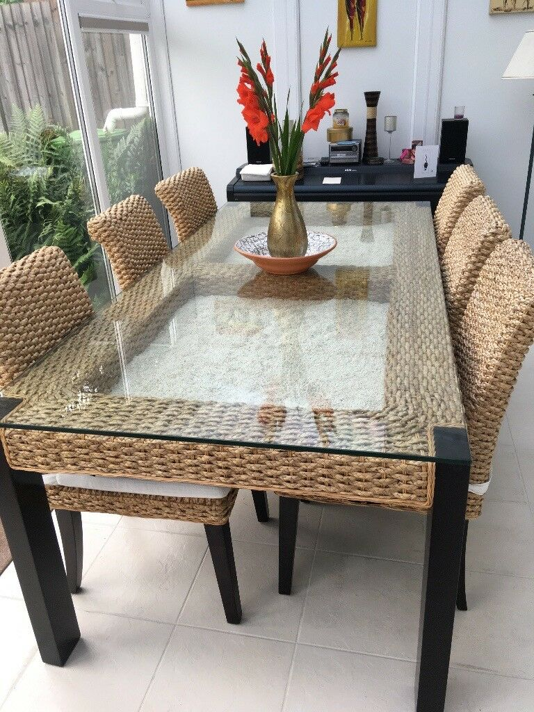 Luxury Conservatory Furniture Dining Table Six Chairs Coffee